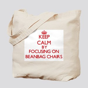 Keep Calm by focusing on Beanbag Chairs Tote Bag