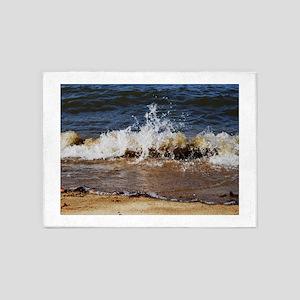 Waves on the Beach 5'x7'Area Rug