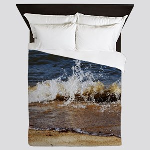 Waves on the Beach Queen Duvet