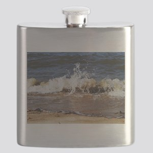 Waves on the Beach Flask