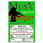 Music Against Hunger Logo Posters Large Poster
