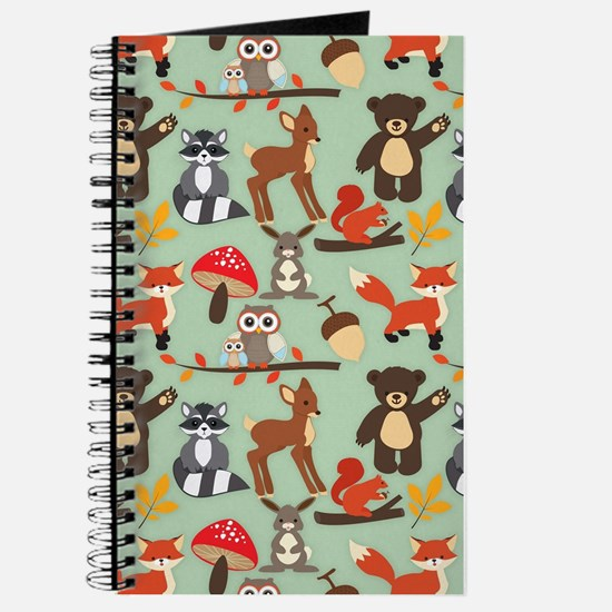 Cute Forest Woodland Animals Pattern Journal