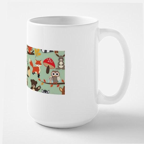 Cute Forest Woodland Animals Pattern Mugs