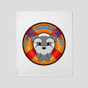 Schnauzer Rescue Throw Blanket
