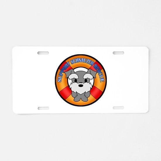 Schnauzer Rescue Aluminum License Plate