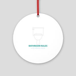 Toilet Etiquette Ornament (Round)