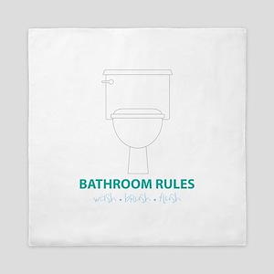 Toilet Etiquette Queen Duvet