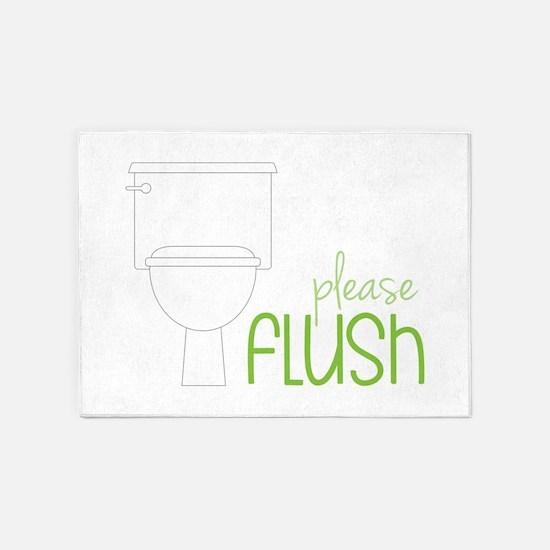 Toilet Etiquette 5'x7'Area Rug