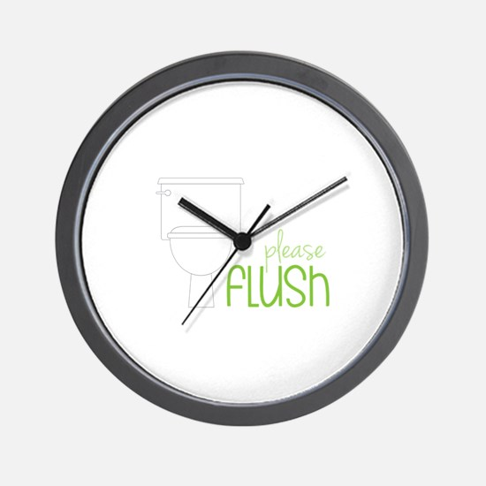 Toilet Etiquette Wall Clock