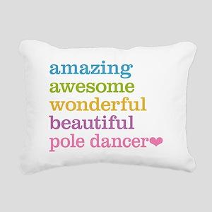 Pole Dancer Rectangular Canvas Pillow