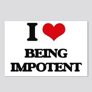 I Love Being Impotent Postcards (Package of 8)