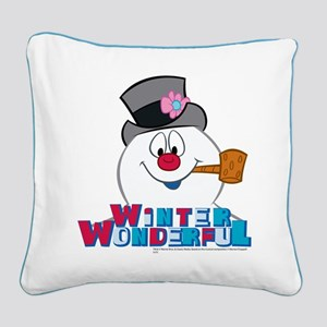 Winter Wonderful Square Canvas Pillow