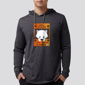 American Eskimo Dog Eskie Mens Hooded Shirt