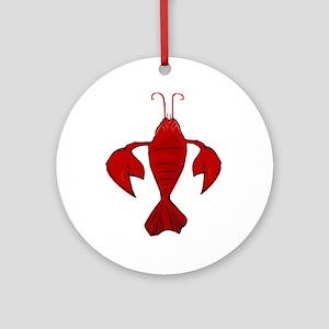 Fleur De Craw Lobster Ornament (Round)