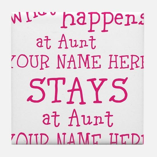 Aunts House Tile Coaster