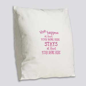Aunts House Burlap Throw Pillow