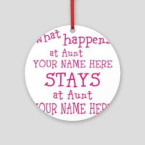 Aunts House Ornament (Round)