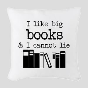 I like Big Books Woven Throw Pillow