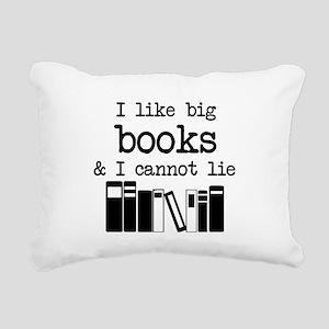 I like Big Books Rectangular Canvas Pillow