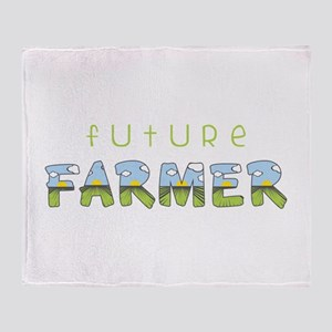 Future Farmer Throw Blanket
