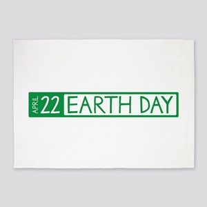 Earth Day Date 5'x7'Area Rug