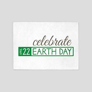 Celebrate Earth Day 5'x7'Area Rug