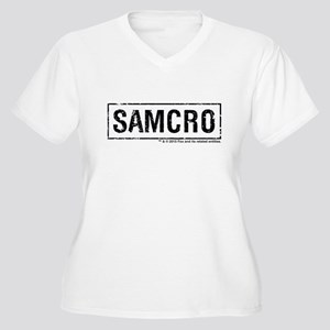 SAMCRO Women's Plus Size V-Neck T-Shirt