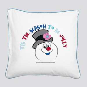 Tis The Season to be Jolly Square Canvas Pillow
