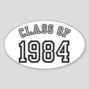 Class of 1984 Oval Sticker