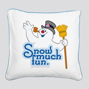 Snow Much Fun Square Canvas Pillow