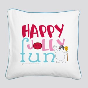 Happy Jolly Fun Square Canvas Pillow