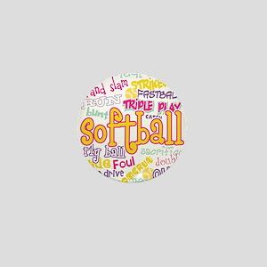 Softball Mini Button