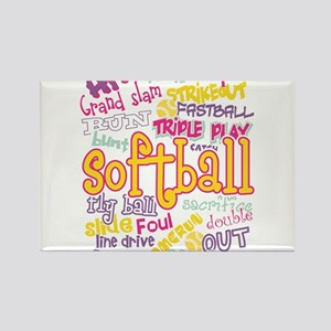 Softball Magnets