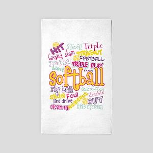 Softball Area Rug