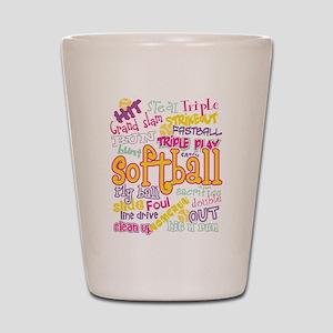 Softball Shot Glass