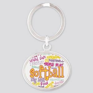 Softball Keychains