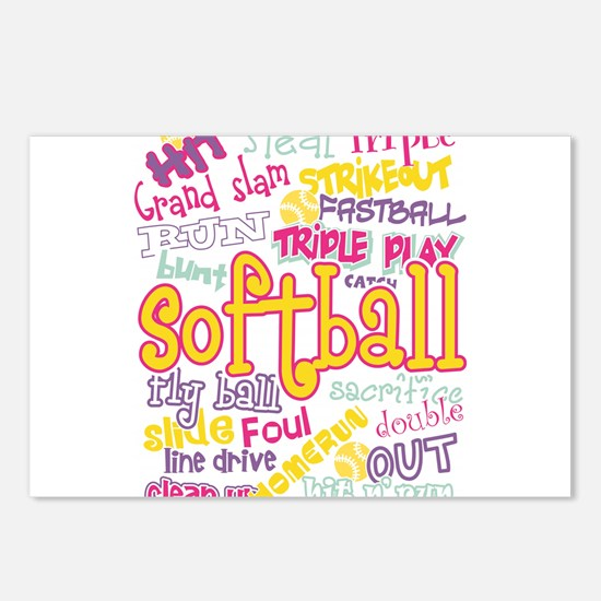 Softball Postcards (Package of 8)