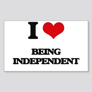 I Love Being Independent Sticker