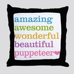 Awesome Puppeteer Throw Pillow