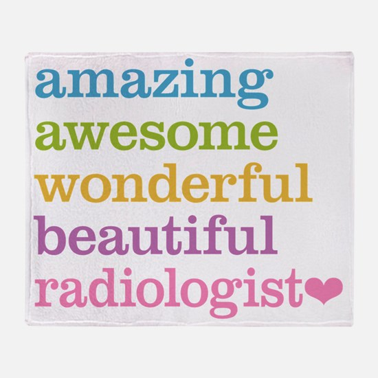Awesome Radiologist Throw Blanket