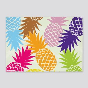 Colorful pineapples patterns 5'x7'Area Rug