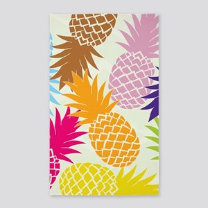 Colorful pineapples patterns Area Rug