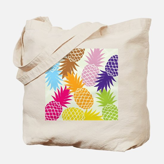 Colorful pineapples patterns Tote Bag