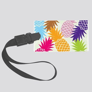 Colorful pineapples patterns Luggage Tag