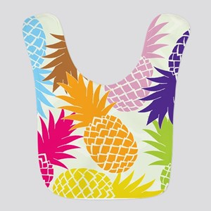 Colorful pineapples patterns Bib