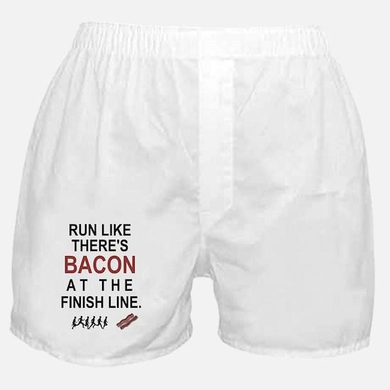 Will Run for Bacon Boxer Shorts