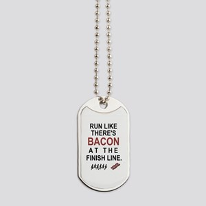 Will Run for Bacon Dog Tags