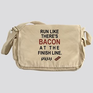 Will Run for Bacon Messenger Bag