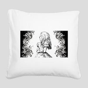 Alice Swirls Square Canvas Pillow