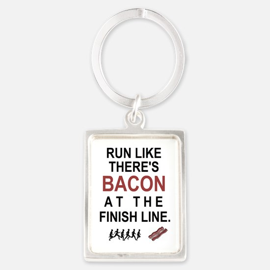 Will Run for Bacon Keychains
